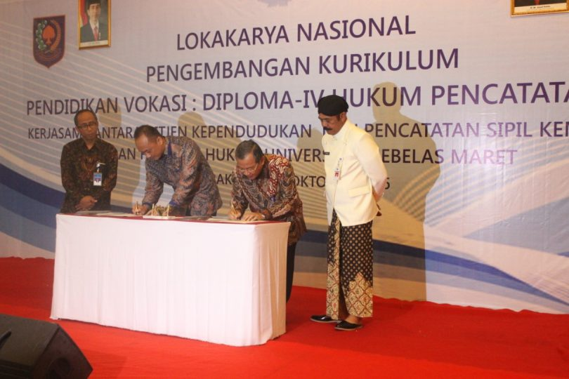 Lokakarya Nasional Program Vokasi D-IV Hukum Pencatatan Sipil