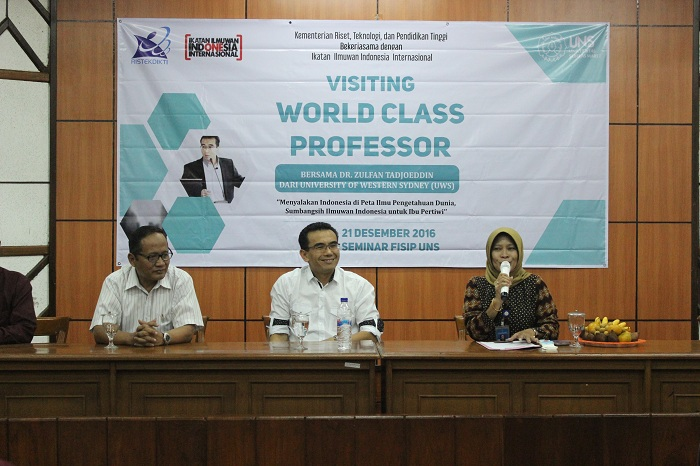 cover Visiting world class professor UNS - Dikti bahas Posisi Indonesia